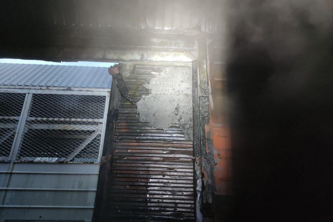 Новости Харькова: В Харькове загорелся товарный вагон