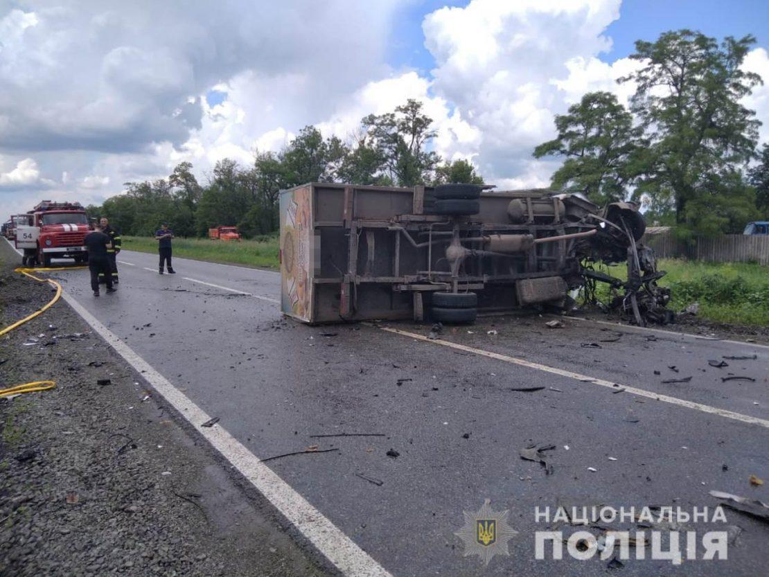 ДТП Газели и КАМАЗа в Харькове. Новости Харькова