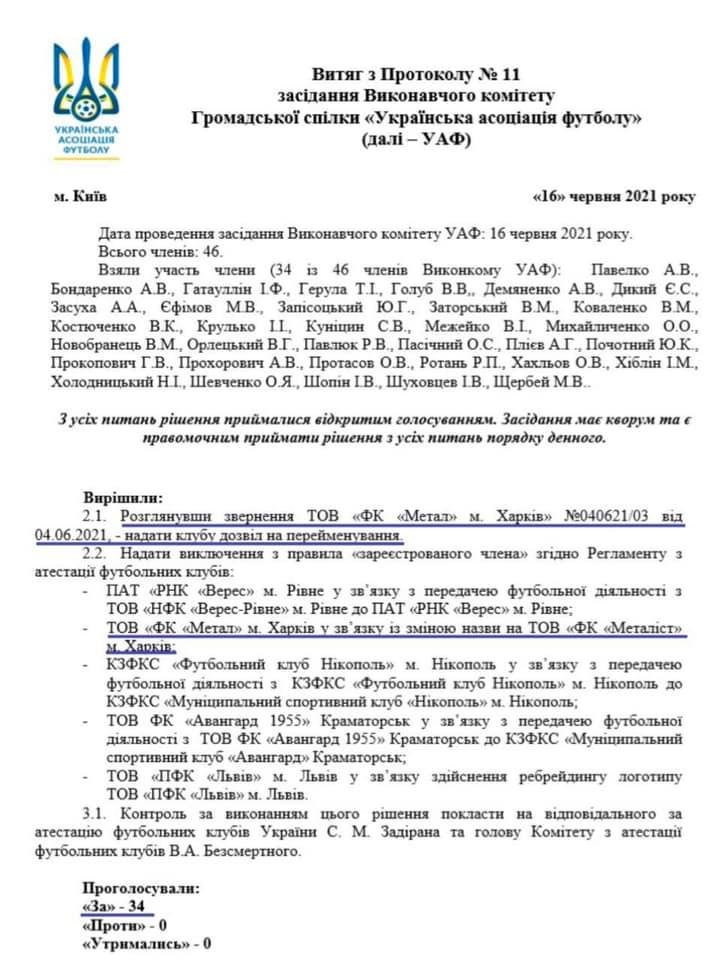 """Металл"" теперь ""Металлист"". Новости Харькова"