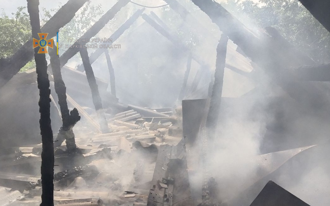 Пожар Харьков: пожар в селе Моначиновка.