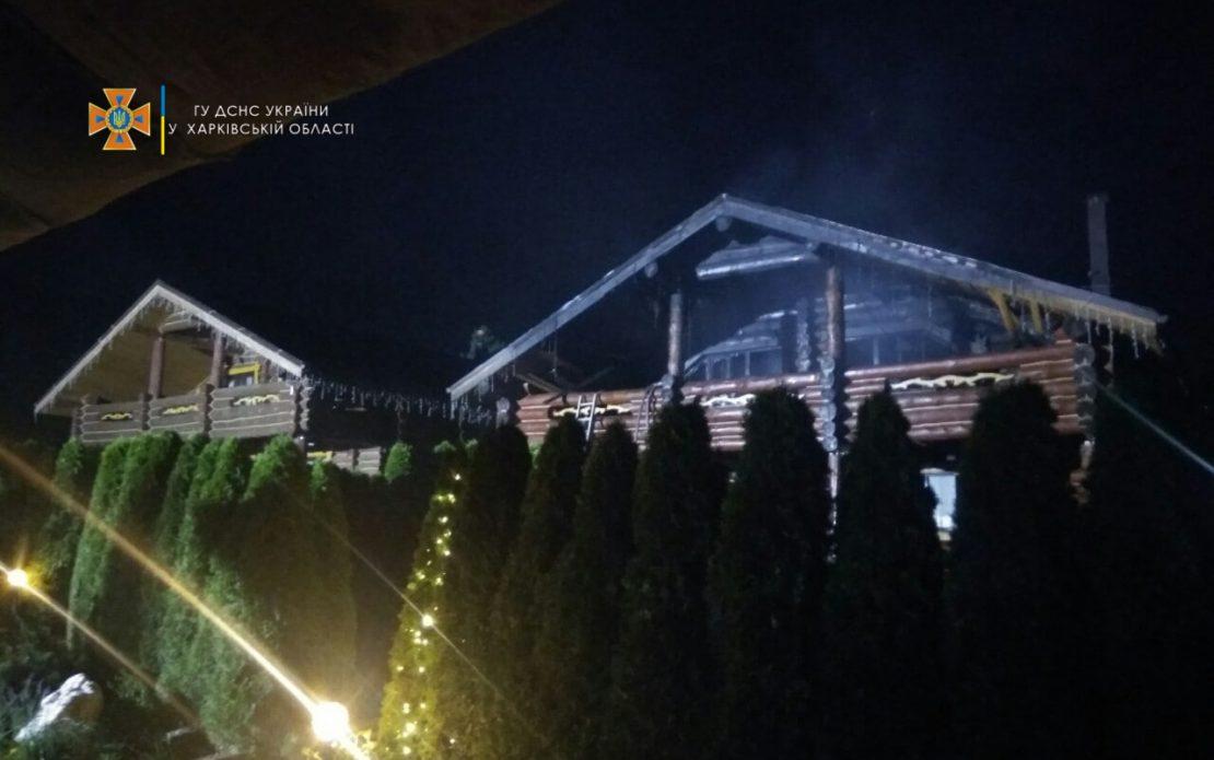 Пожар в Харькове: Горело здание элитного комплекса Club Chalet