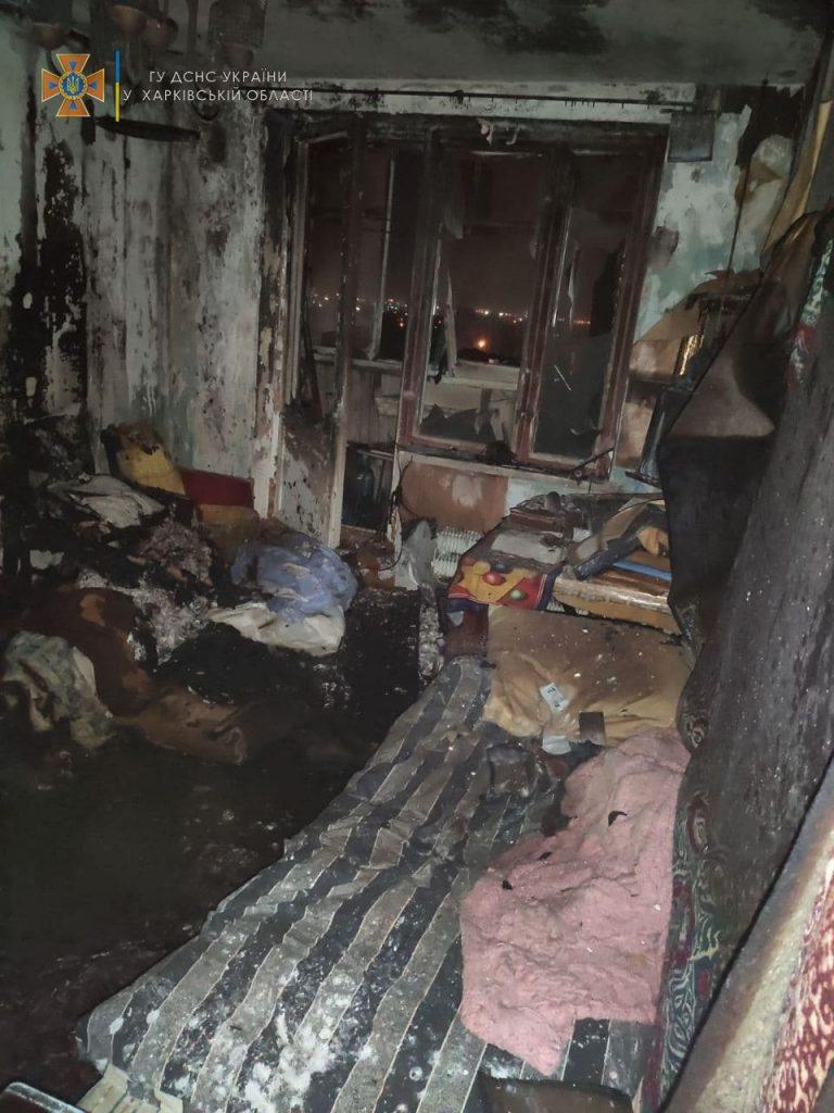 Новости Харькова: В Новобаварском районе горела девятиэтажка