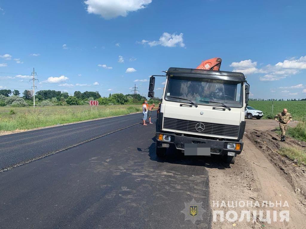 Новости Харькова: В районе Безлюдовки ДТП с участием дорожника