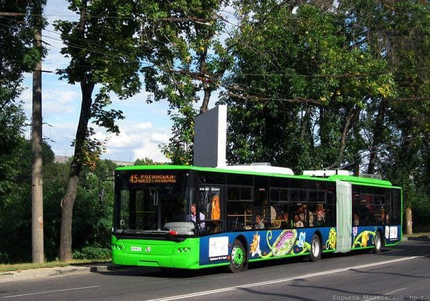 Новости Харькова: Троллейбус № 45 временно не ходит