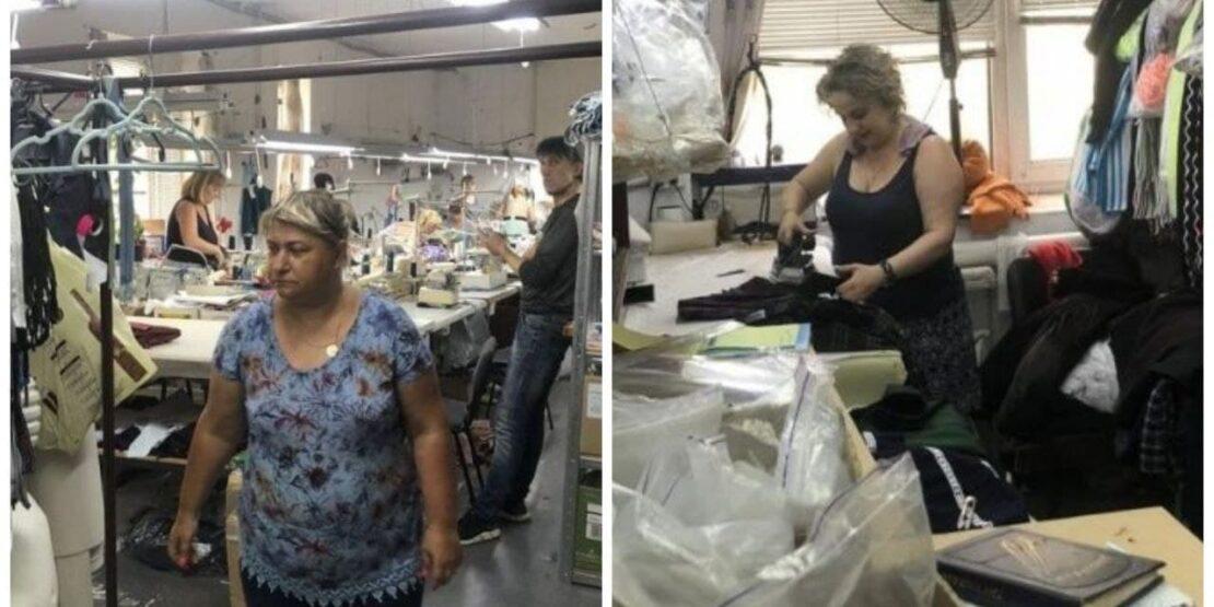 В Харькове инспекторы Гоструда проверяют швейный цех