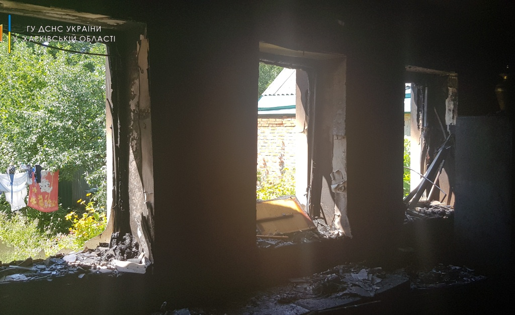 Новости Харькова: пожар в частном домовладении