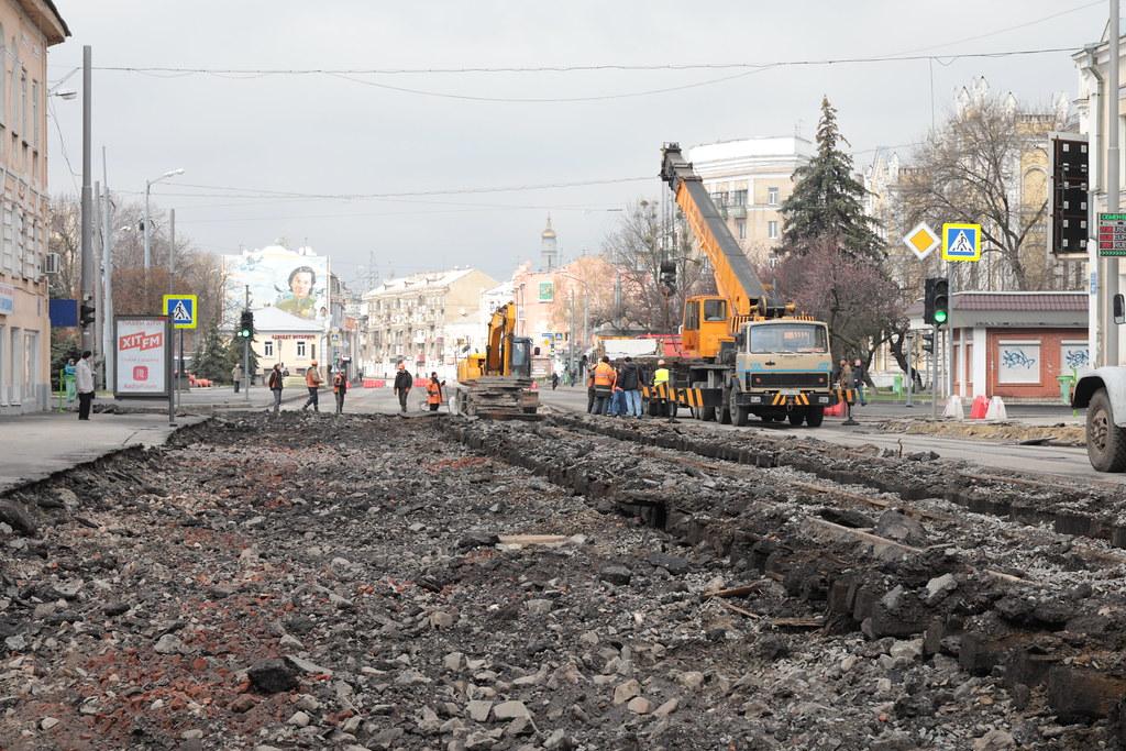 Новости Харькова: ремонт дороги на Московском проспекте
