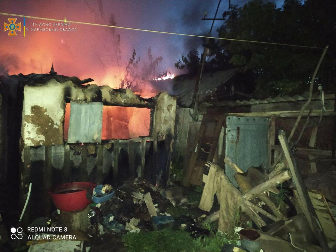 Пожар на Харьковщине: В  горящем доме спасатели нашли труп