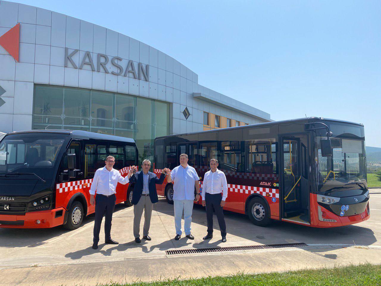 Новости Харькова: Первая партия автобусов Karsan едет в Харьков