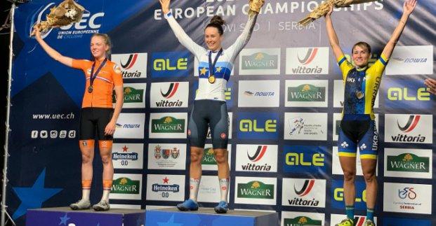 Спорт Харьков: Попова - призер чемпионата Европы по маунтинбайку