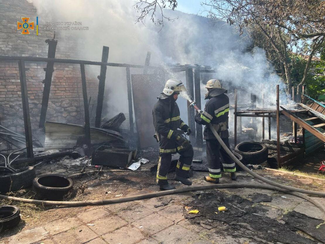 Пожар в Харькове: В Московском районе горела хозпостройка