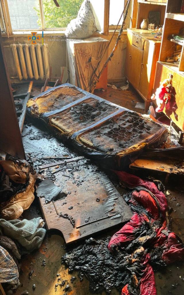 Новости Харькова: Пожар на Валентиновской, горела пятиэтажка