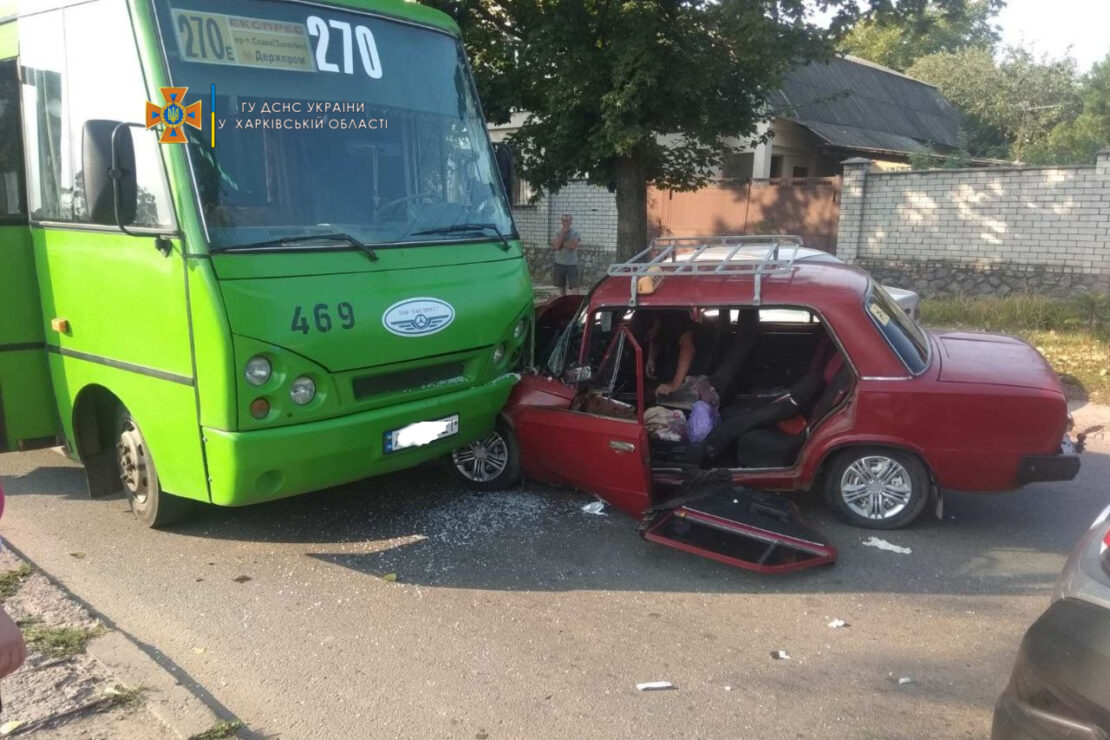 ДТП в Харькове: В маршрутку № 270 въехал автомобиль