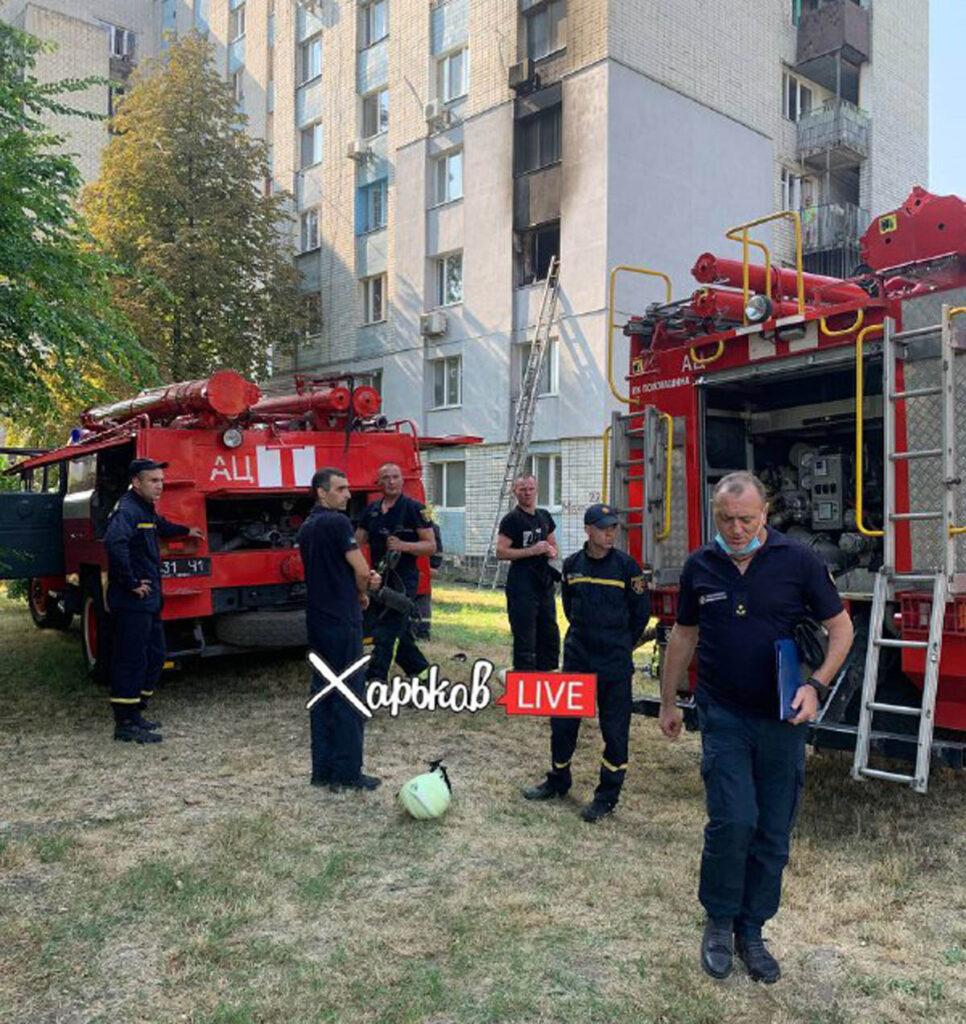 В Московском районе Харькова во время пожара пострадал подросток