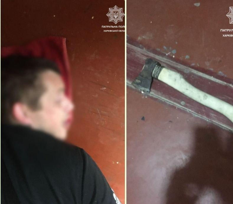Новости Харькова: На Ахсарова самоубийца вышел к копам с топором