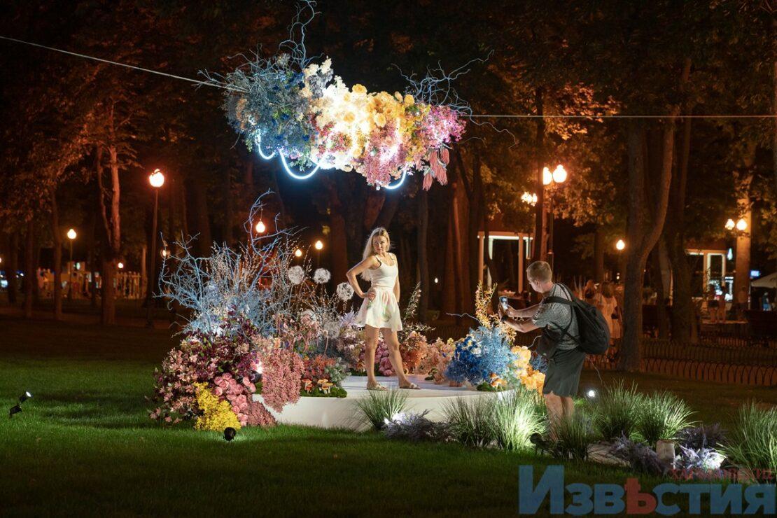Новости Харькова: Фотозона из цветов в Парке Горького