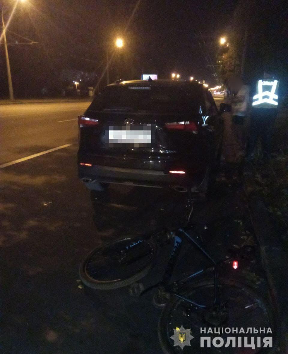 Новости Харькова: подросток на велосипеде въехал в авто
