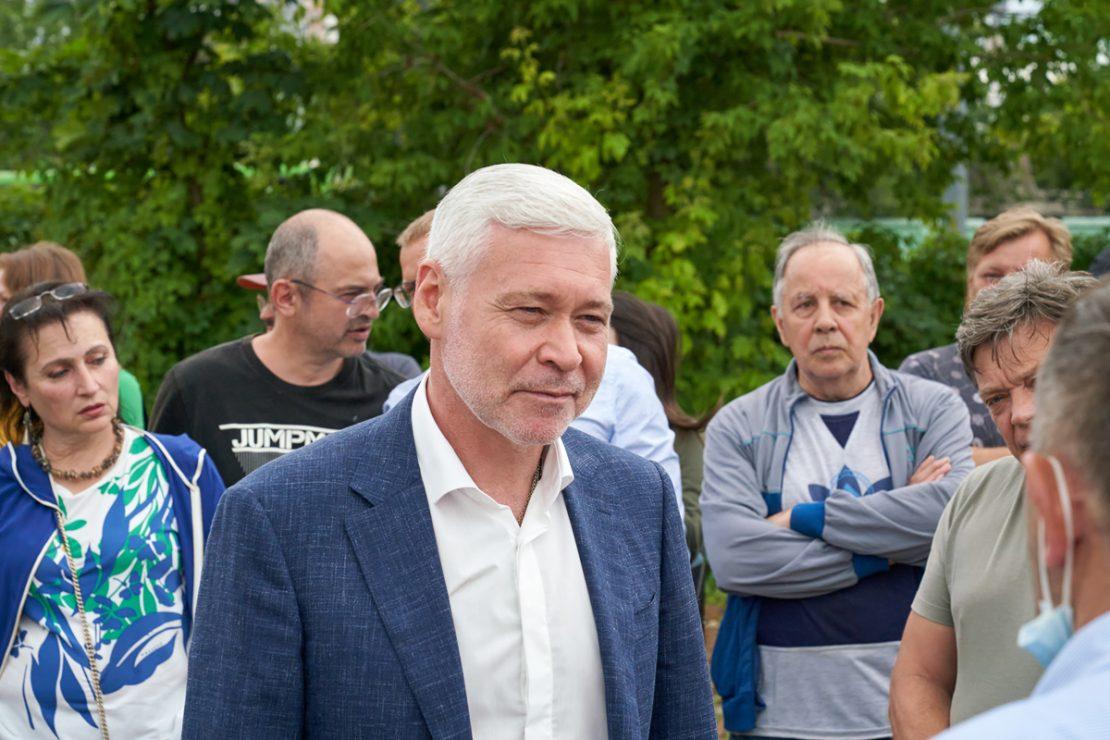В Харькове Игорь Терехов встретился с жителями Холодногорского района