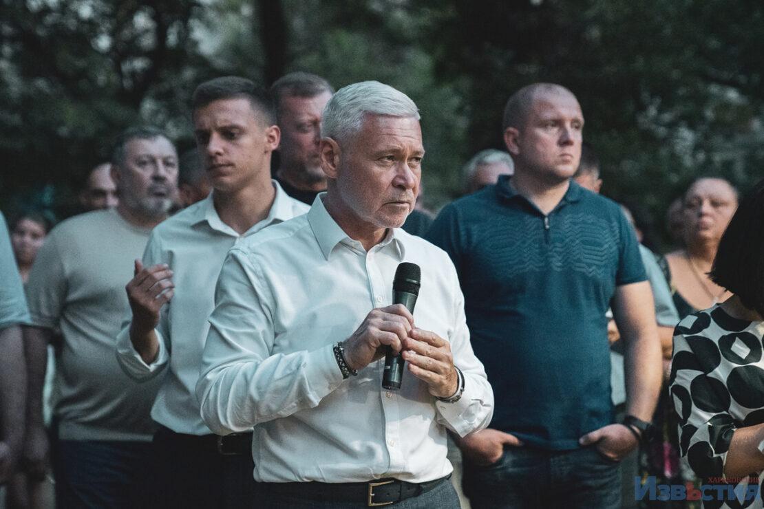В Харькове Игорь Терехов встретился с жителями Московского района