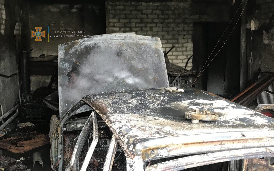 Пожар в Харькове: В Слободской районе сгорел гараж с автомобилем