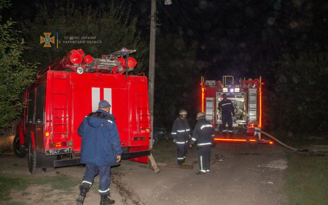 Пожар на Харьковщине: В пгт Панютино сгорел дом от замыкания сети