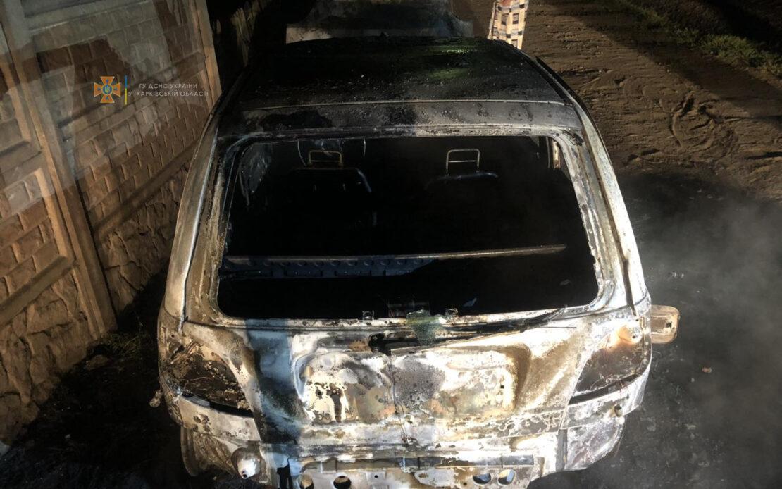 Пожар в Харькове: На Станционном въезде, 4 сгорел Daewoo Matiz