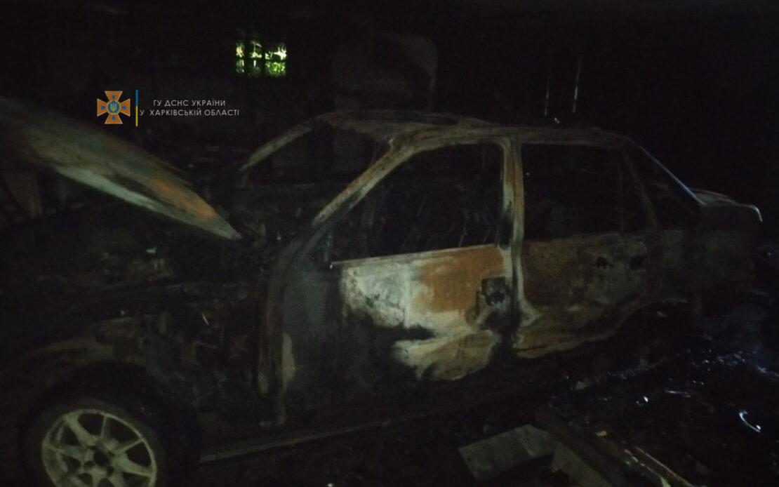 Пожар в Харькове: В Малой Даниловке сгорел гараж и автомобиль