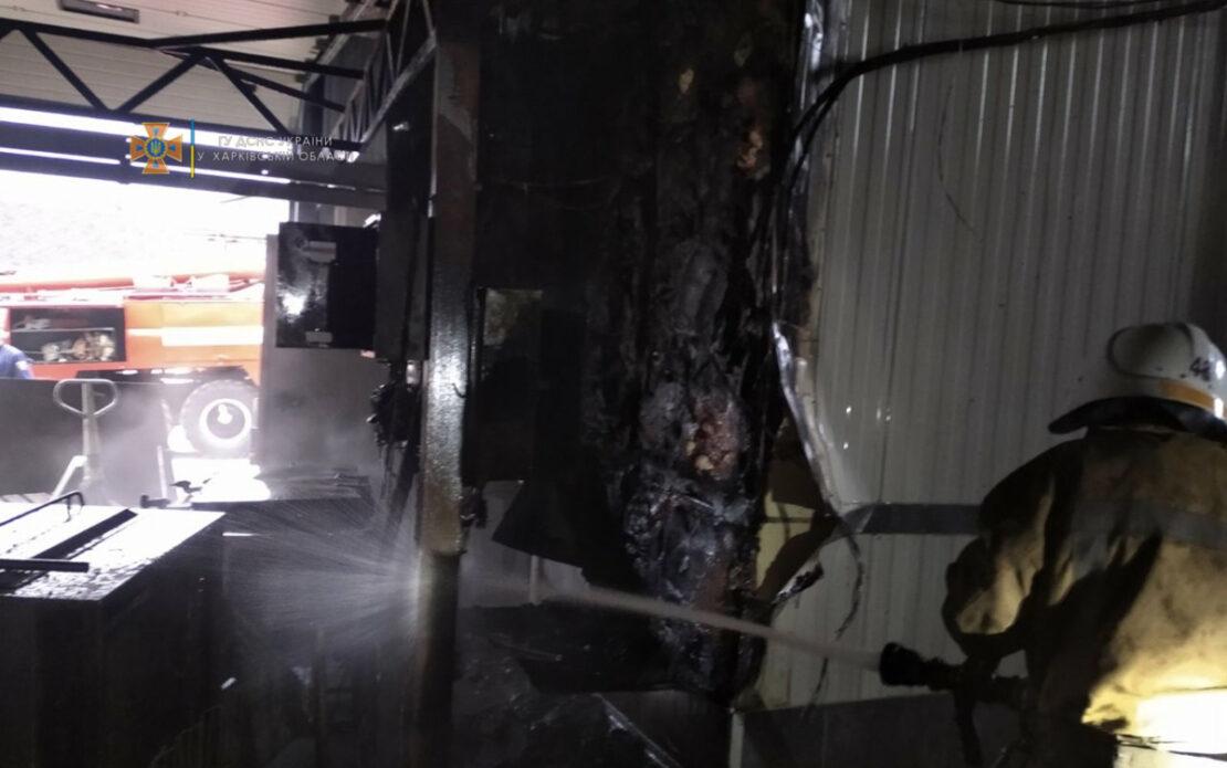 Пожар на мясокомбинате в Люботине. Новости Харьковской области