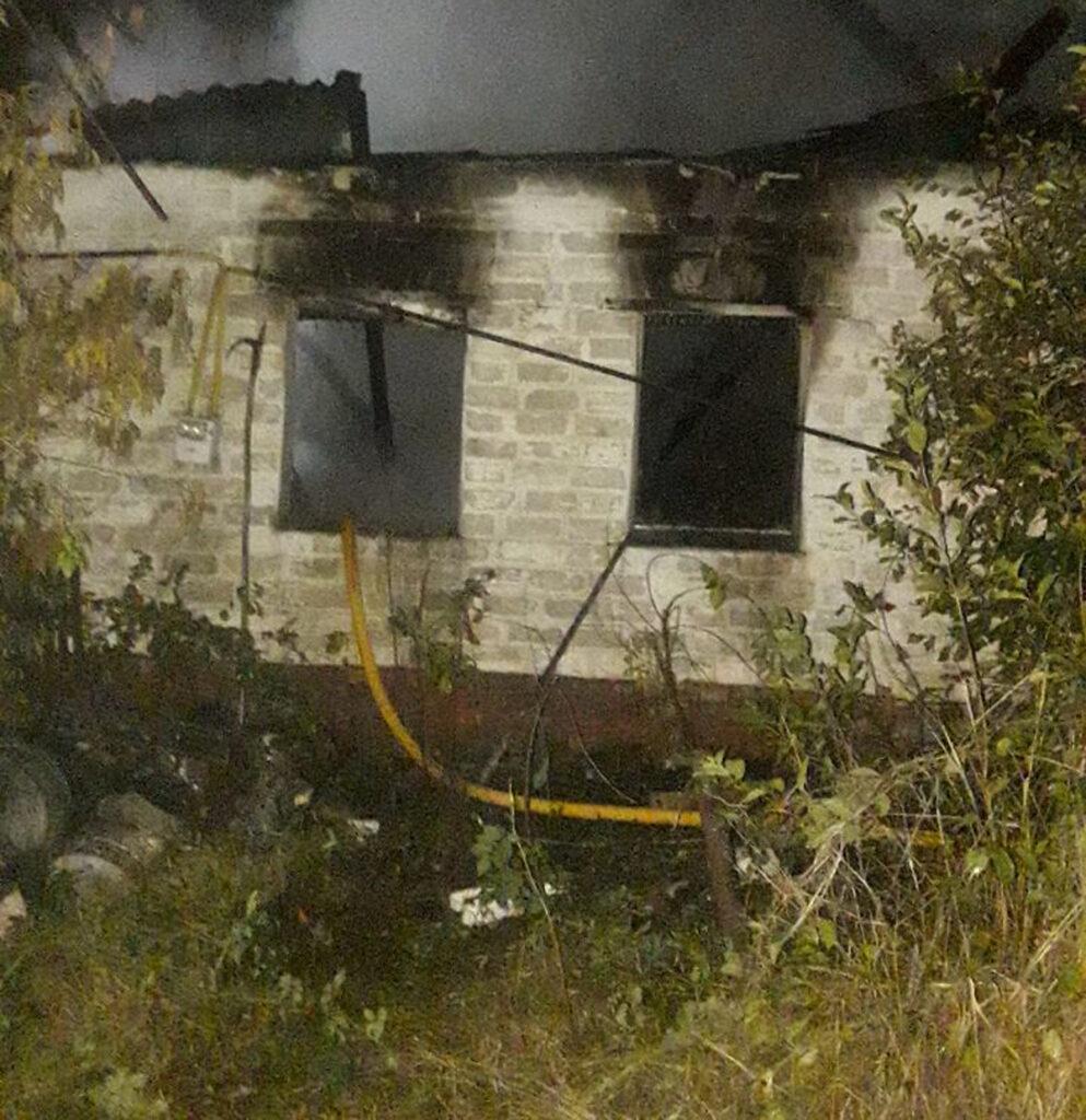 На пожаре в селе Ольшаны Харьковской области погиб мужчина