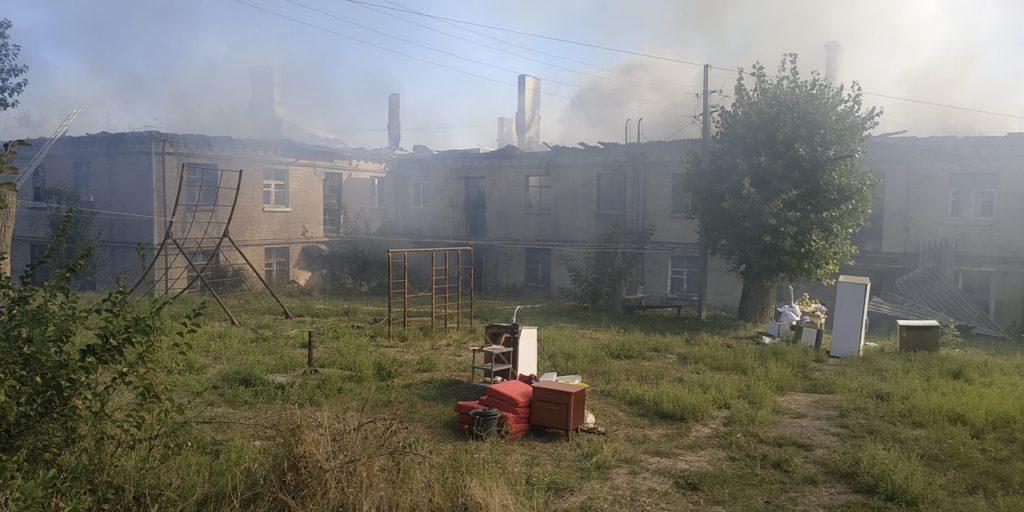 Пожар на Харьковщине: Горело общежитие в Изюме