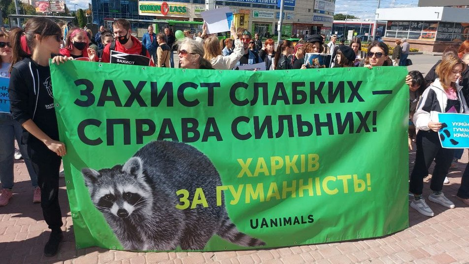 Харьковчане поддержали Всеукраинскую акцию за права животных