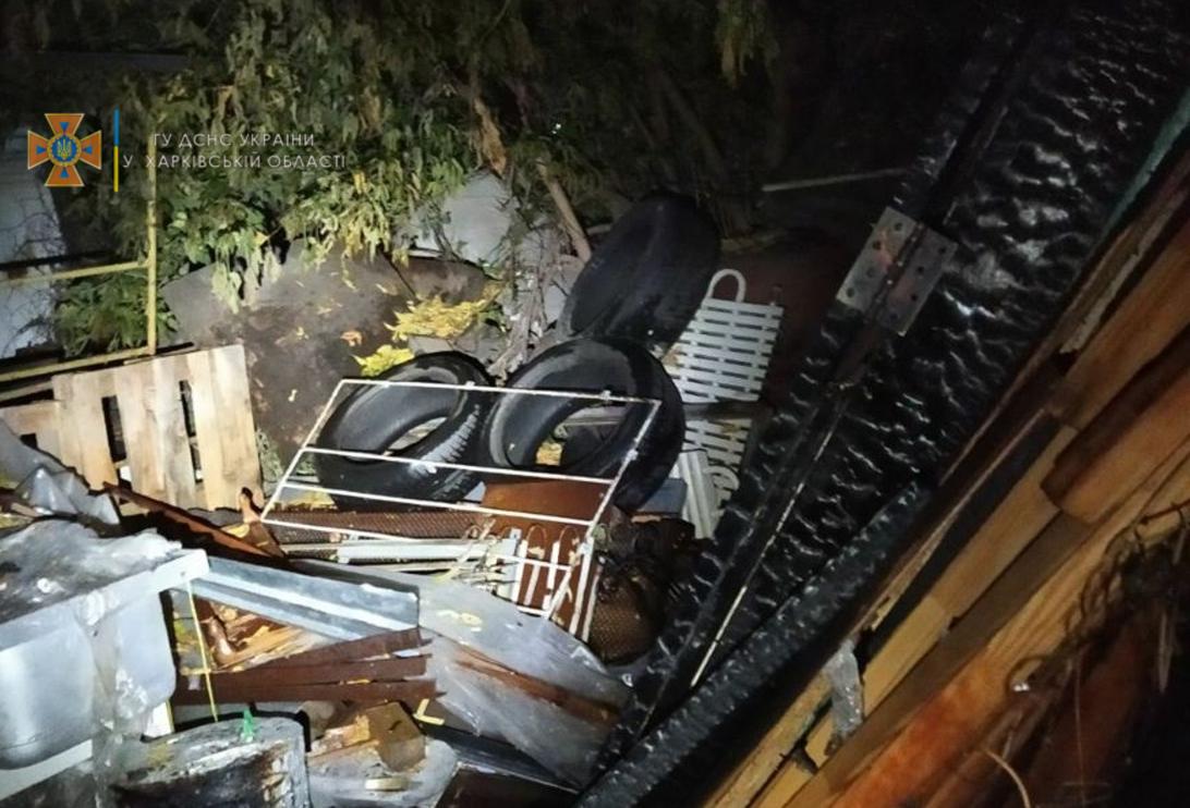 В Харькове горело кафе I Cloud на улице Барабашова, 7