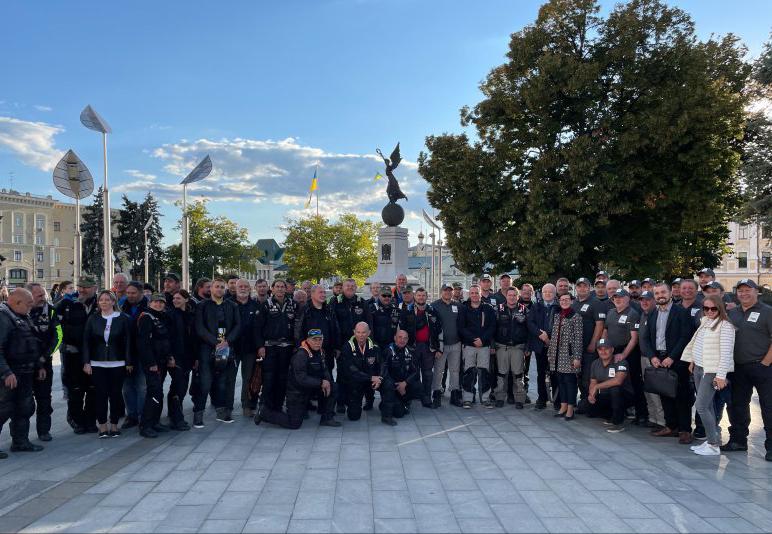Участники Катынского мотопробега сделали остановку в Харькове
