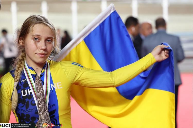 Алла Билецкая победила на мировом чемпионате по велоспорту