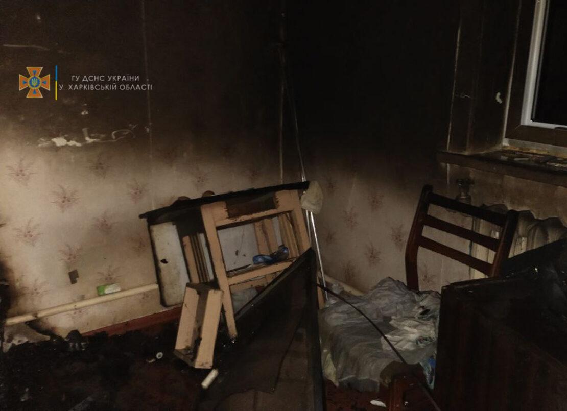 В Харькове в пожаре погибла прикованная к постели бабушка