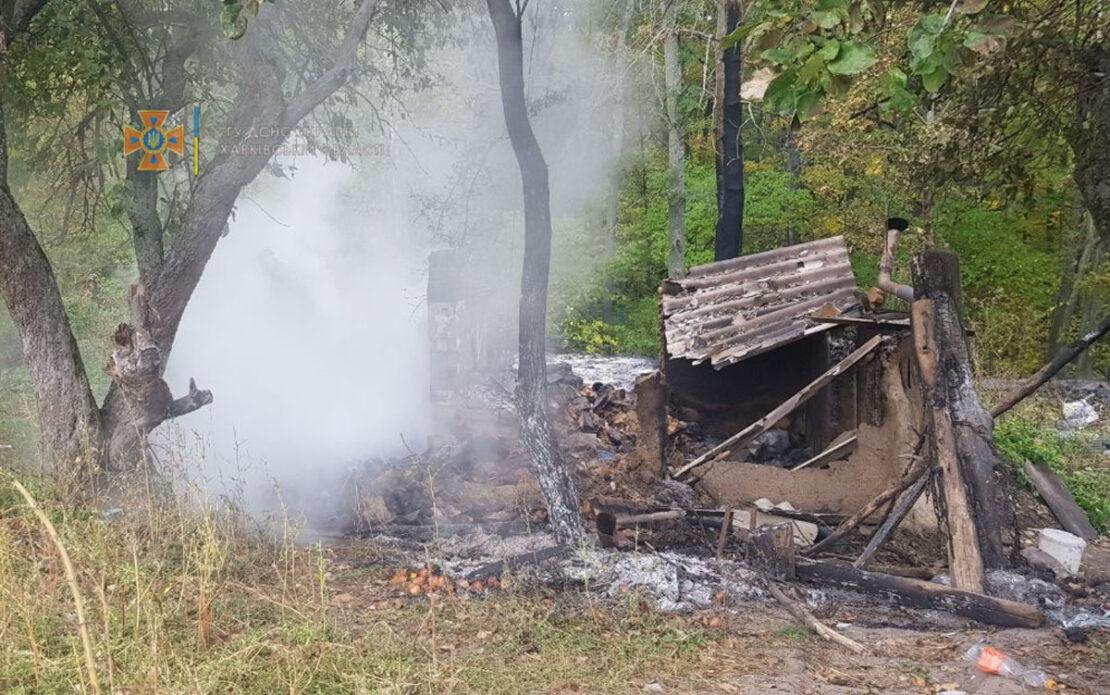 В Дергачах Харьковской области на пожаре погибла женщина