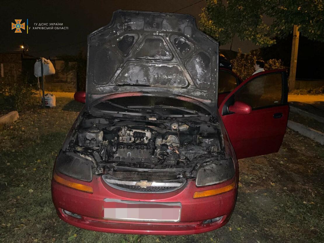 Пожар в Харькове: В Основянском районе горел Chevrolet Aveo