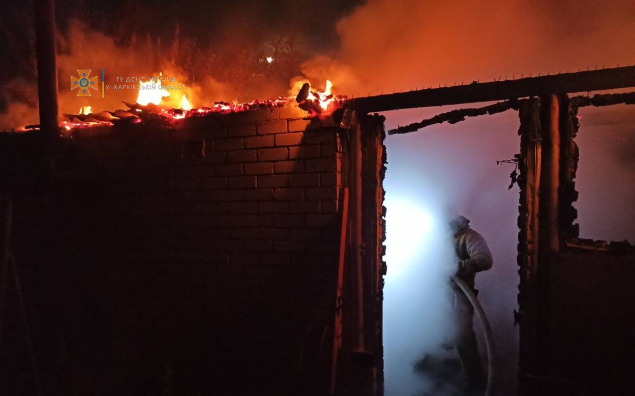 Пожар на Харьковщине: В селе Ржавец сгорела баня