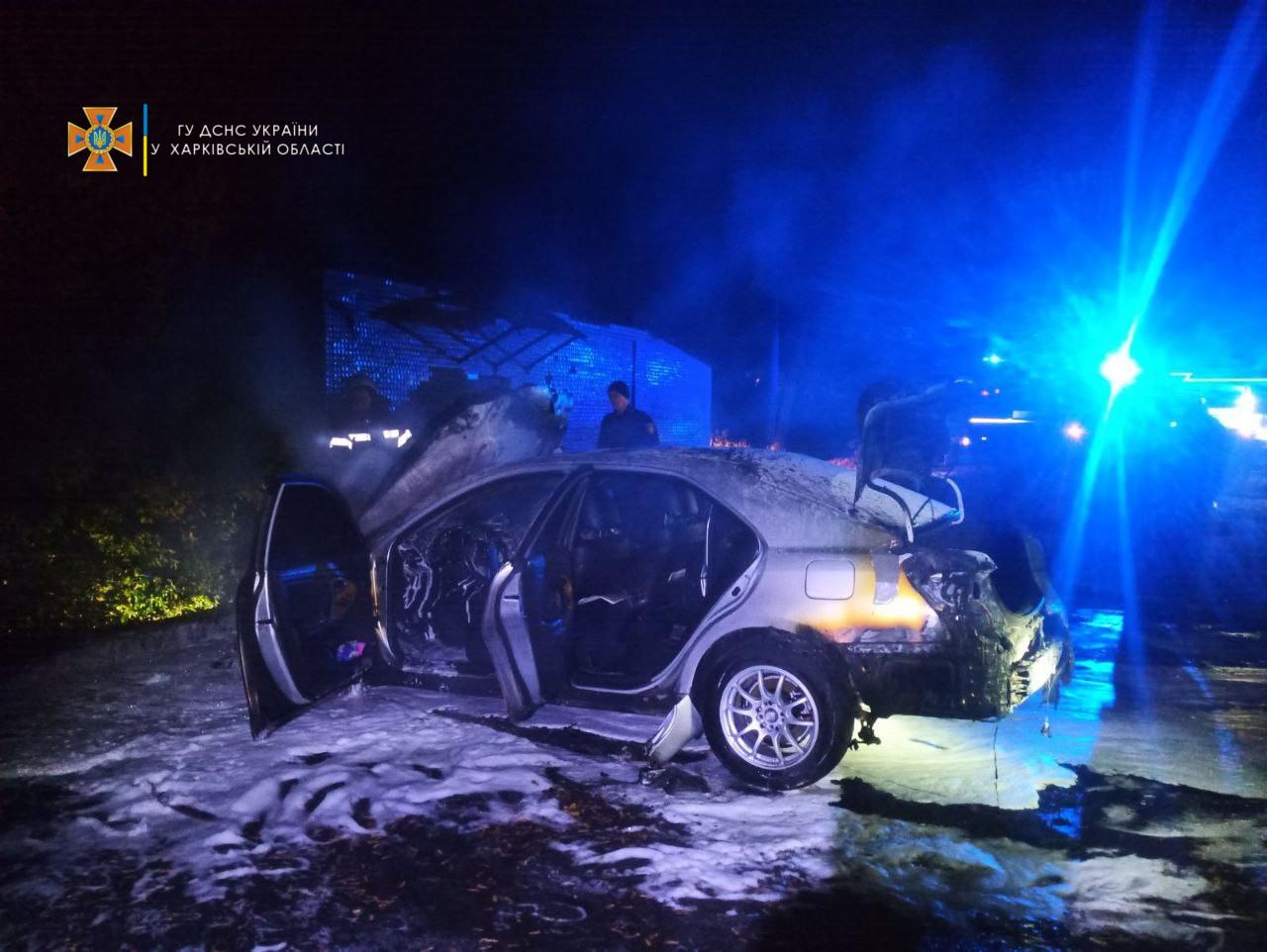Пожар Харьков: Автомобиль Toyota Camry сгорел на улице Бекетова