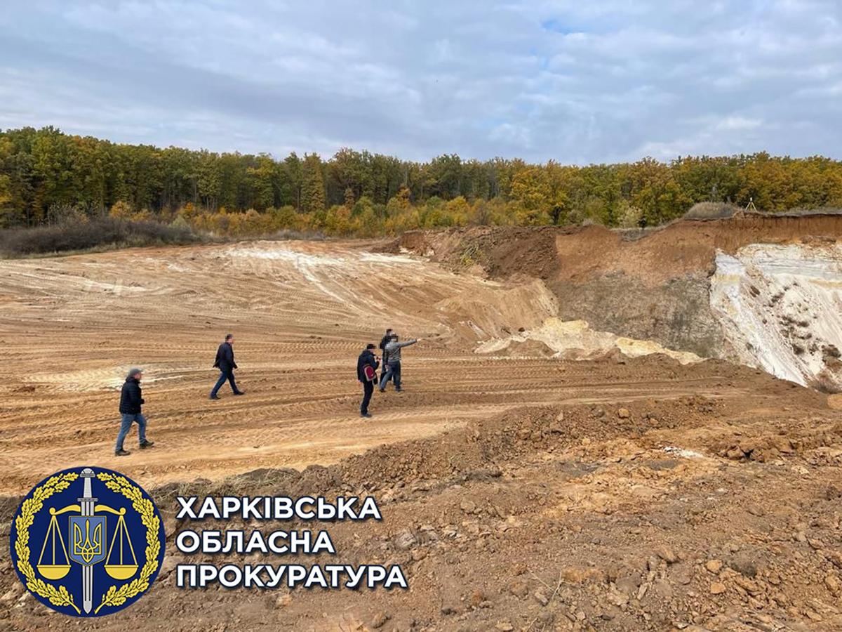 Новости Харькова: Незаконный карьер на фермерских полях в Харьковском районе