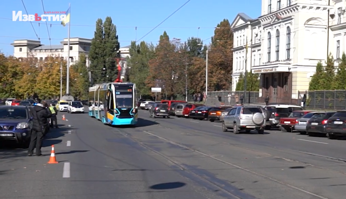 В Харькове пустили на маршрут швейцарский трамвай Stadler
