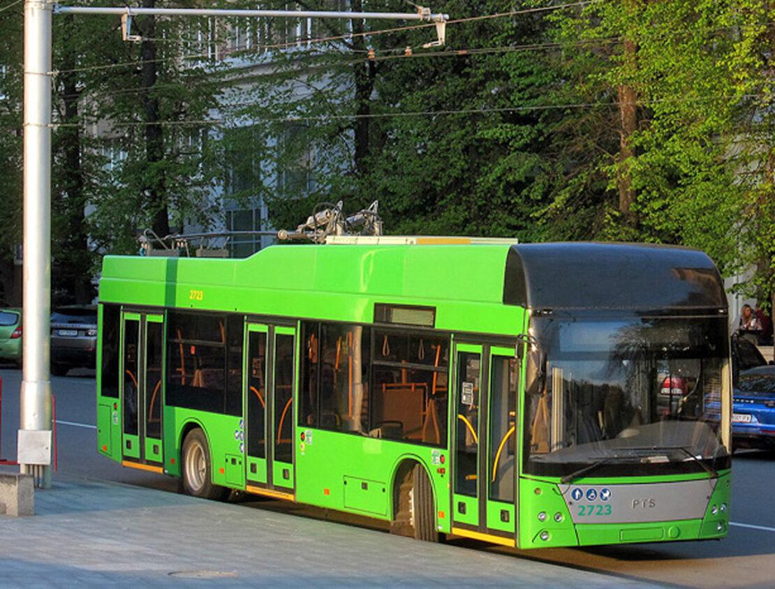 Новый троллейбусный маршрут №55 в поселок Жуковского в Харькове