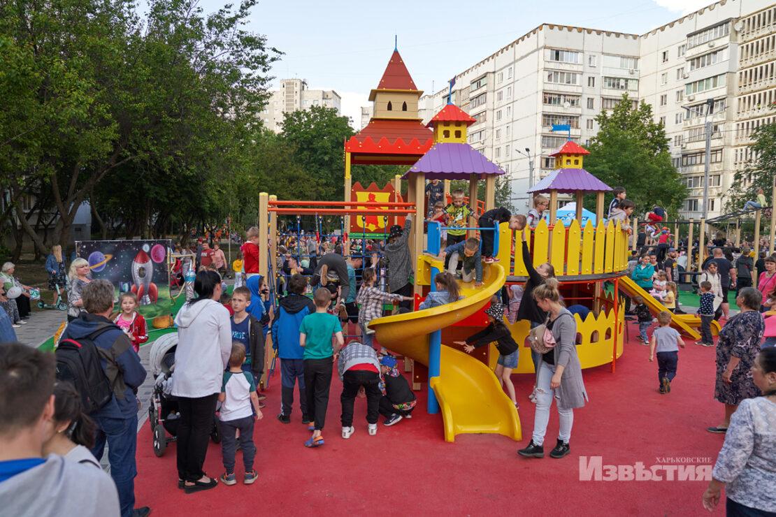 Зоны отдыха и спортивные площадки в спальных районах Харькова